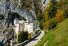 The Predjama Castle built in a cave near the town of Postojna, Slovenia, Europe.