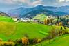 A rural village near Bohinj, Slovenia, Europe.