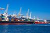 The Adriatic port facilities of Koper, Slovenia, Europe.