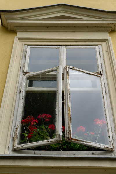 Window with Flowers, Ljubljana
