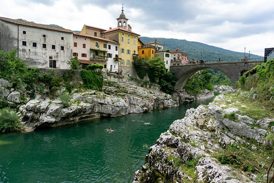 Bridge over the Isonzo river