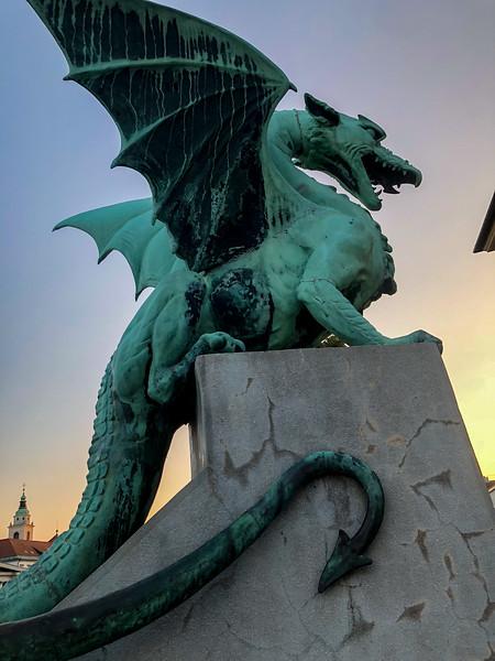 Dragons on the bridge, Ljubljana