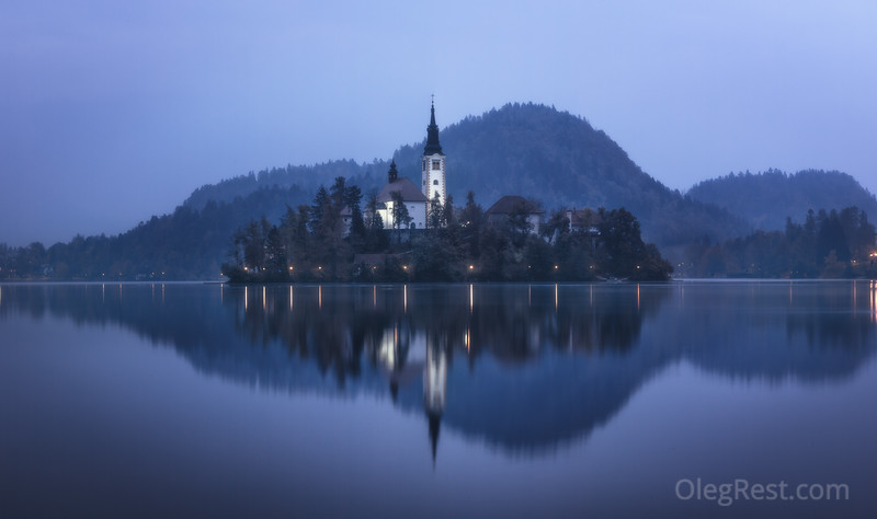 Bled in blue