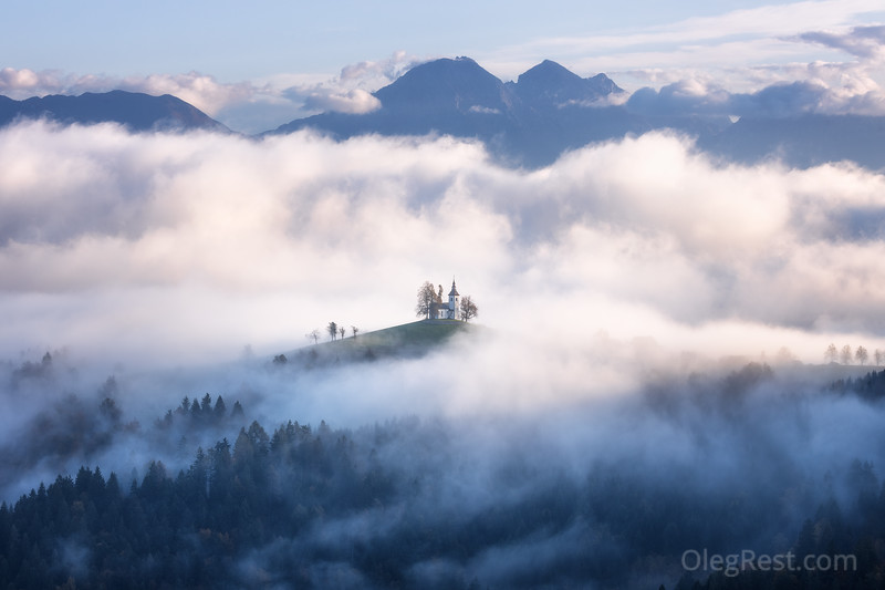 Misty morning in Slovenia