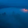 St. Primoz Church Night Fog