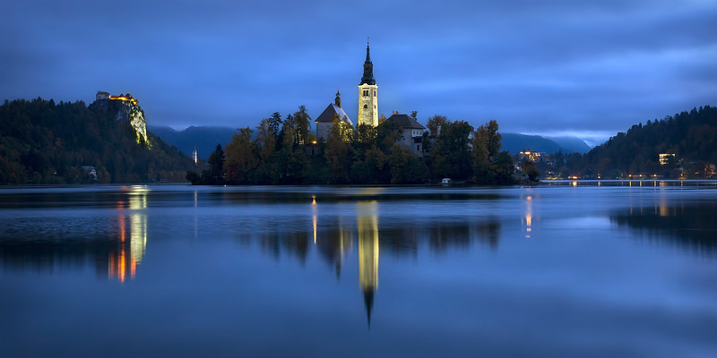 Lake Bled Dawn Panoramic