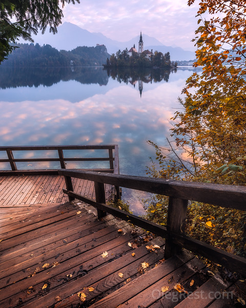 Autumn on the Bled lake