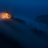 St. Primoz Church Night Fog