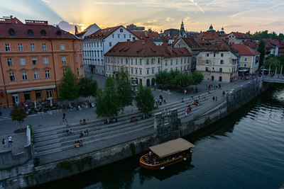 Ljubljana by sunset