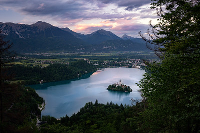Lake Bled from Above