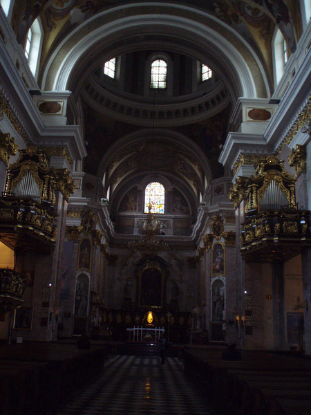 Inside the cathedral of St. Nicholas