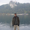Lake Bled, an hour by bus from Ljubljana - it was rainy and cold