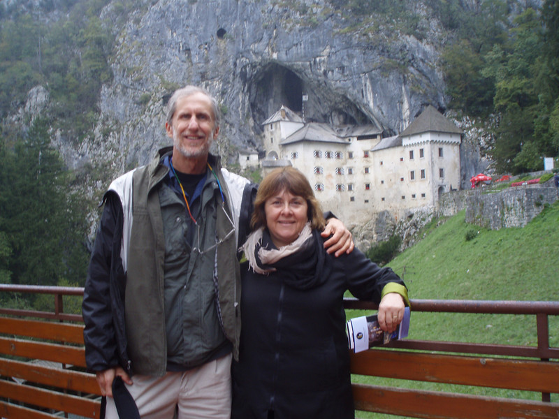We took a day trip from Ljubljana to Postojna Caves (no pictures - the flash encourages the growth of lichen, apparently).  Predjama Castle is about 10 miles away.  It was build in the 13th century into the side of a cliff.
