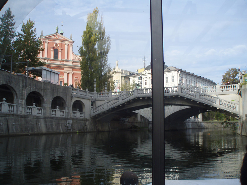 We took a short boat ride on the Ljubljanica River