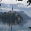 The little island in the center of Lake Bled - on every travel poster of Slovenia