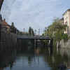There are several bridges crossing the Ljubljanica River - the most famous are the Triple Bridge and the Dragon Bridge
