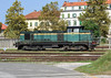 SZ 643-040 sits outside the entrance to Maribor depot at Maribor Studenica station on 23 September 2011