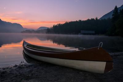 Ráno u Bohinjského jezera