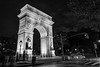 Washington Square Arch B&W