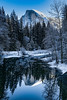 Yosemite Half Dome Winter Reflection