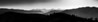 Montana Mountain Sunset Panoramic B&W
