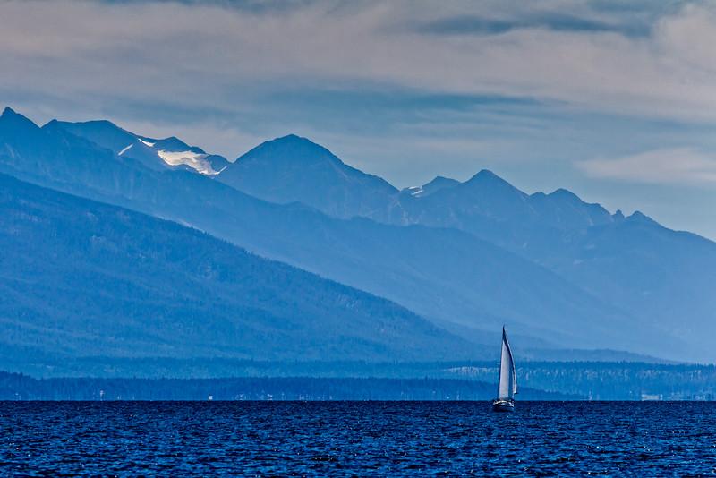 Montana Blue Lake Sailboat