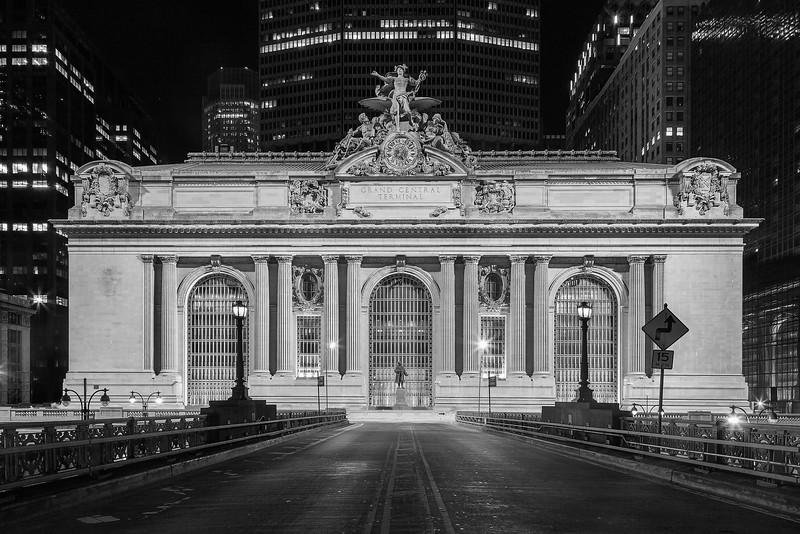 Grand Central Terminal Exterior B&W