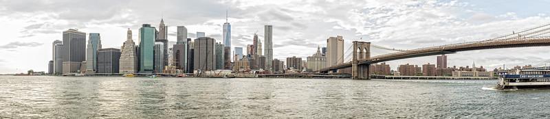 Manhattan From Brooklyn Panoramic