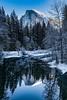 Yosemite Half Dome Winter Reflection
