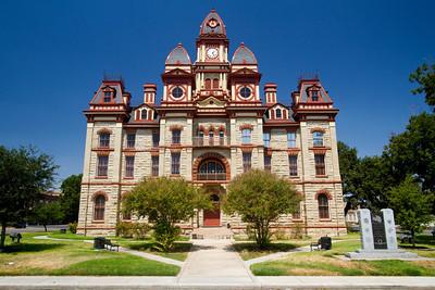 Lockhart, Texas courthouse circa 1883
