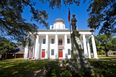 Clinton, La courthouse circa 1840.  It is one of the oldest operating courthouses in Louisiana.