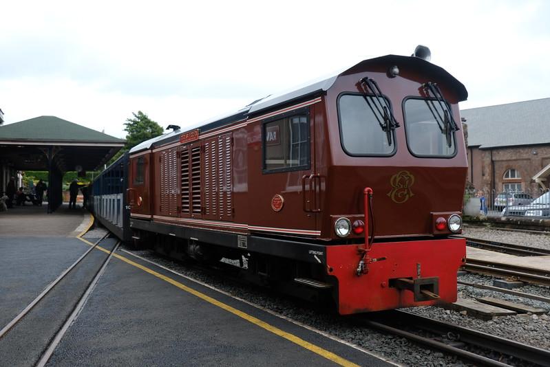 Douglas Ferreria  on the Ravenglass and Eskdale Railway