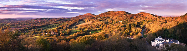 Early Autumn - View from British Camp -  Malvern Hills