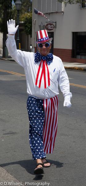 Let the Santa Barbara, 4th of July parade begin.