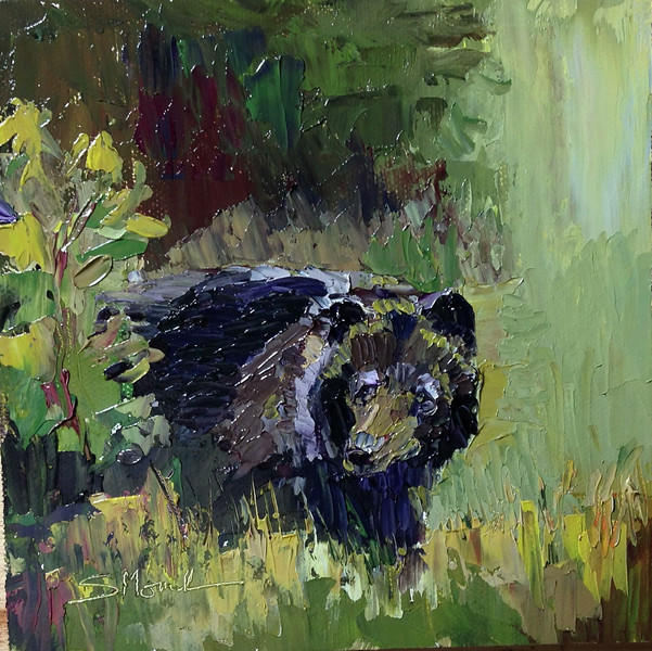 ©2013 Susie Morrell_Northern Black Bear_oil on panel 6 x 6_high res