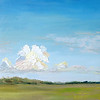 """Clouds"" ©SusieMorrell_6x6_ oil on panel<br /> Private Collection"