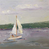 "30 in 30 Challenge Day 7: ""Sailing"" © 2013 Susie Morrell 6x6 original oil on panel; private collection"