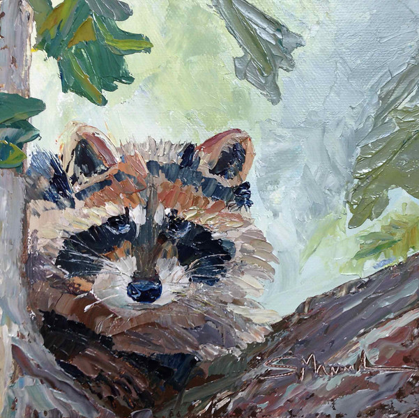 "©Susie Morrell ""Raccoon""<br /> Private Collection"
