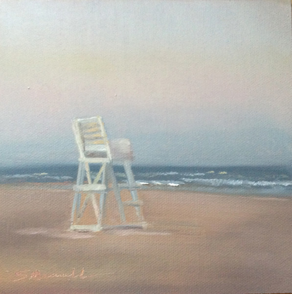 """Off Duty"" © 2012 Susie Morrell 6x6 original oil on panel; private collection"