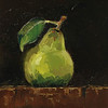 """Pear"" © 2013 Susie Morrell 6x6 original oil on panel; private collection"