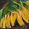 """Sunflower"" © 2010 Susie Morrell 6x6 original oil on panel, private collection"