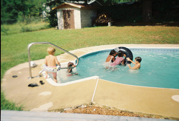 BO Pool Party at Jalon's house. Possibly June 1993.