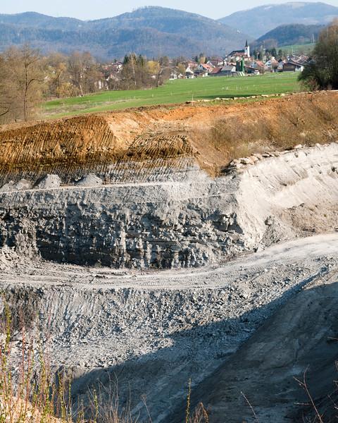 "Laufen clay pit, ""Série grise"" - ""Molasse alsacienne"" boundary, Oligocene, Switzerland<br /> <br /> Olympus E-600 & Zuiko 12-60mm/2.8-4.0"