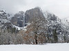 Yosemite Falls in Winter
