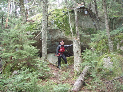 About 1.2 miles from the start of the Sandwich Range Wilderness we entered an area of very large boulders.