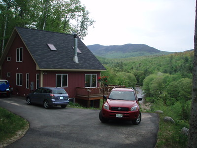 Free lodging at the house with Sandwich Mt. in the background