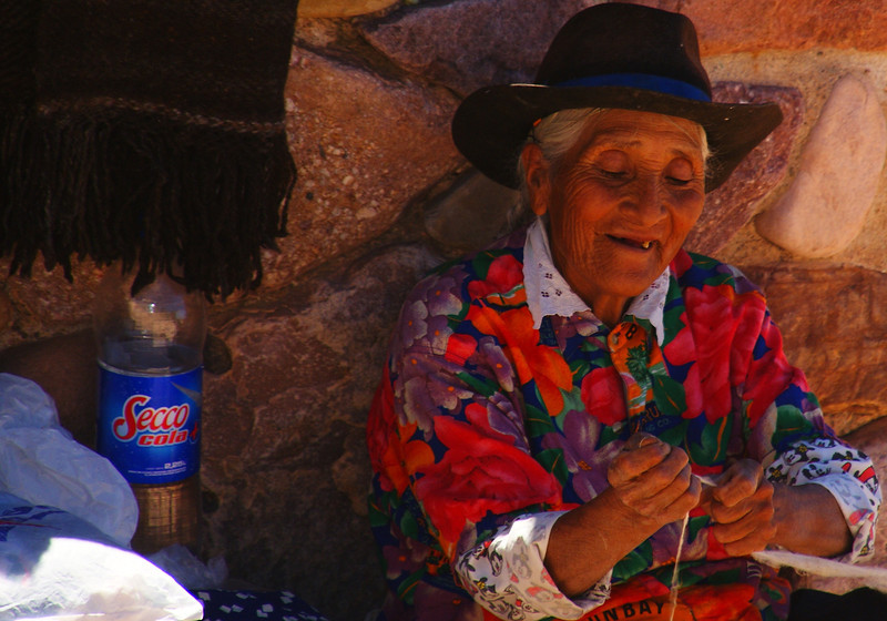 """<a href=""""http://smilingfacestravelphotos.com"""">http://smilingfacestravelphotos.com</a> : This daily smiling faces travel photo is of a local lady delighted to be working away at her craft in the Northern region of Argentina."""