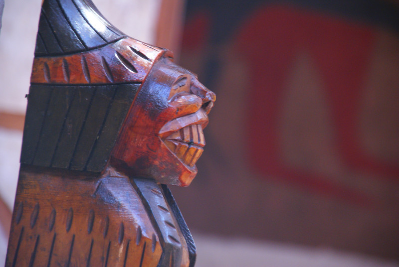 Today's daily smiling faces travel photo is of a smiling sculpture I noticed while eating lunch at a restaurant in San Pedro de Atacama, Chile.