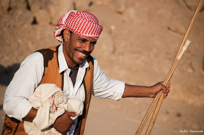 Today's smiling faces travel photo comes from a tiny island on the Nile named Heisa, in the Aswan area. During Beduin Characters of Egypt Festival this man flashes an authentic smile.