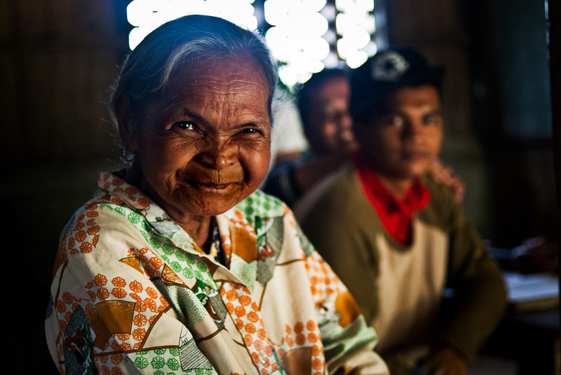 An elder of the Eskaya Tribe in the rural Philippines. The tribe, which speaks a unique language with no ties to any other known language, has less than 2000 members and is rarely visited by outsiders. For more information, check out this photoessay.